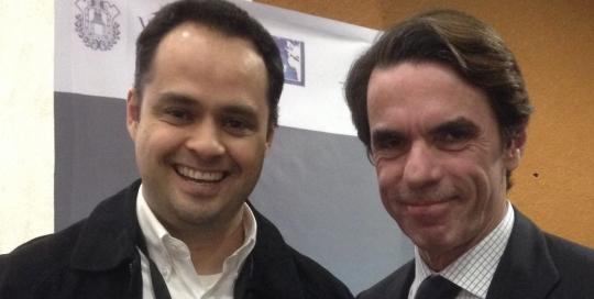 José María Aznar y Mario Padilla