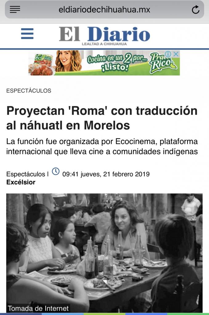 Proyectan Roma